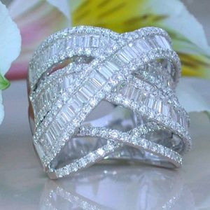 Jewelry - New White Sapphire & CZ Ring Size 8